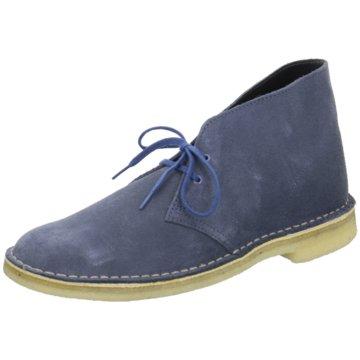 Clarks Schnürstiefelette blau