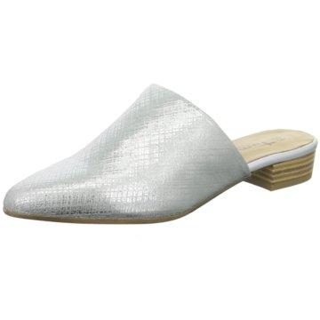 Tamaris Mules Pantoletten silber