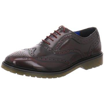 Redtape Global Shoes Eleganter Schnürschuh rot