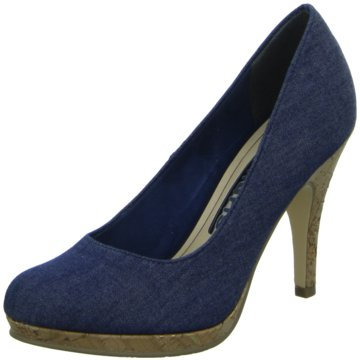 Tamaris - Pumps eleganter Boden ab 50mm Absatz -  blau