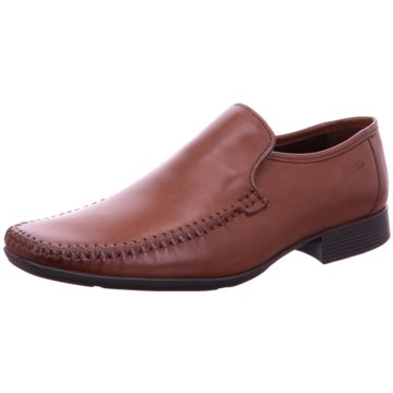 Clarks Business Mokassin braun