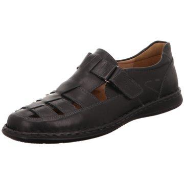 Sioux Klassischer Slipper schwarz