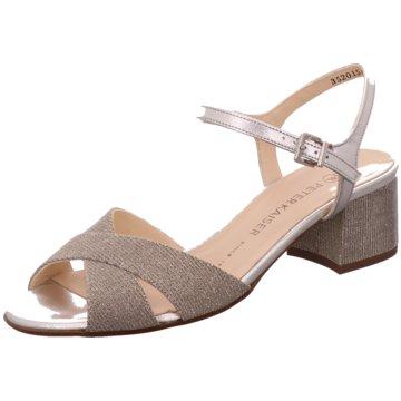 Peter Kaiser Modische Sandaletten silber
