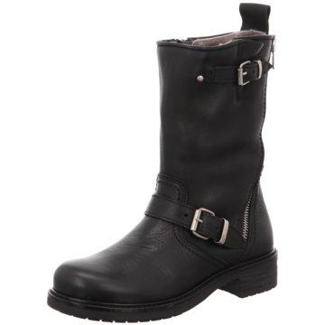 Momino Hoher Stiefel schwarz