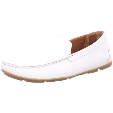 Weber Schuhe Mokassin Slipper weiß
