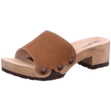 Softclox Plateau Pantolette braun