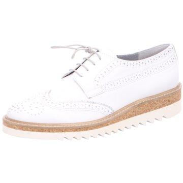 Maripé Modische Schnürschuhe weiß