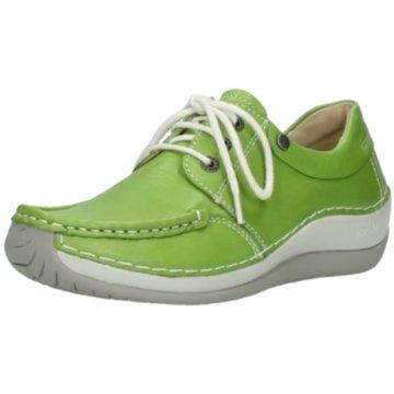 Wolky Komfort Mokassin grün