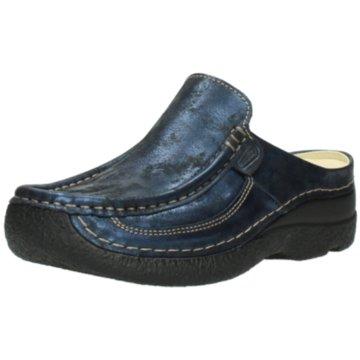Wolky Komfort Pantolette blau