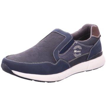 Montega Sportlicher Slipper blau
