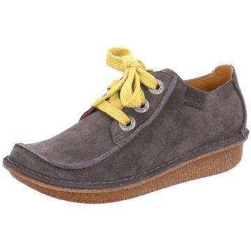 Clarks Komfort Schnürschuh grau