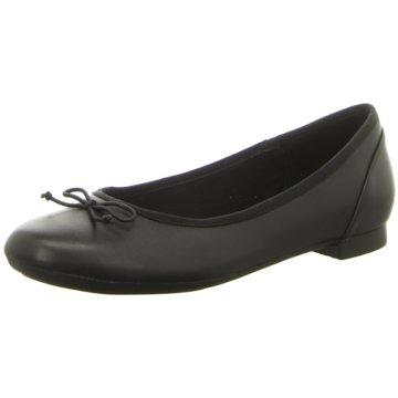 Clarks Klassischer Ballerina schwarz