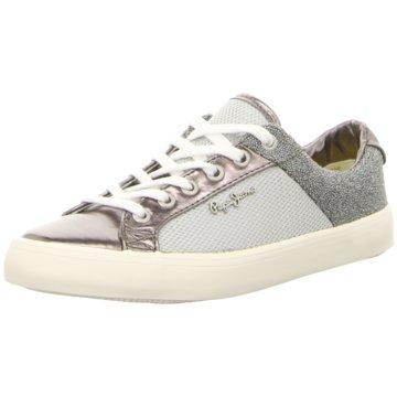 Pepe Jeans Sneaker Low silber