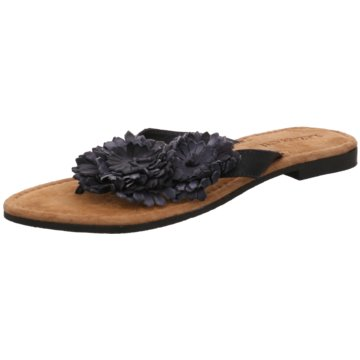 Lazamani Modische Pantoletten schwarz