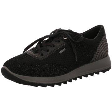 Legero Sportlicher Schnürschuh schwarz