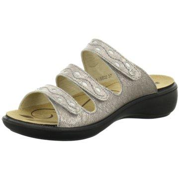 Romika Komfort Pantolette grau