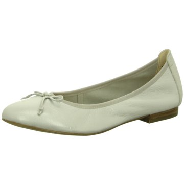 Caprice Faltbarer Ballerina weiß