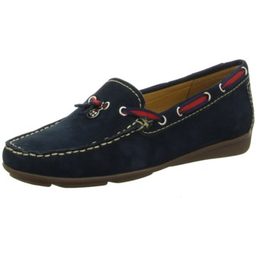 Wirth Mokassin Slipper blau