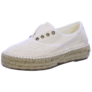 Natural World Eco Espadrille weiß