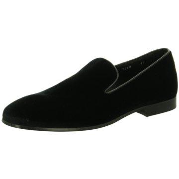 DOUCAL´S Klassischer Slipper schwarz