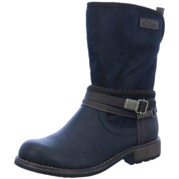 s.Oliver Klassischer Stiefel blau