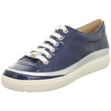 Caprice Klassischer Schnürschuh blau