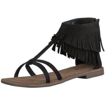 Lazamani Modische Sandaletten schwarz