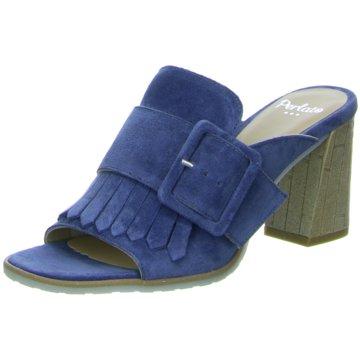 Perlato Klassische Pantolette blau