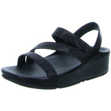 Fit Flop Komfort Sandale schwarz