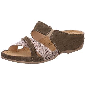 Dr. Feet Komfort Pantolette braun