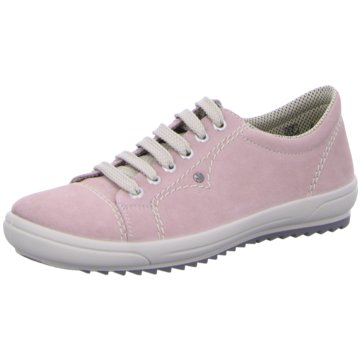 Rieker Komfort Schnürschuh rosa