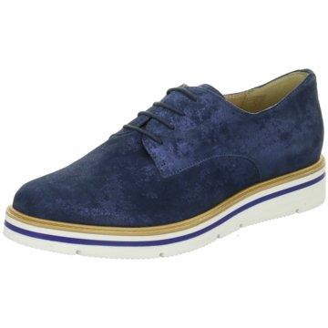 Carmens Eleganter Schnürschuh blau