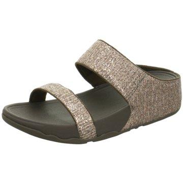Fit Flop Komfort Pantolette gold