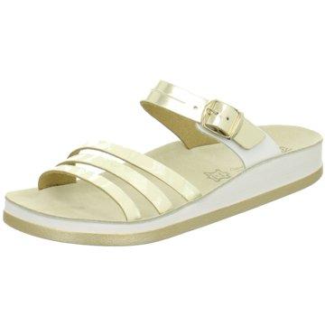 Fantasy Sandals Klassische Pantolette gold