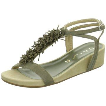 Unisa Modische Sandaletten oliv
