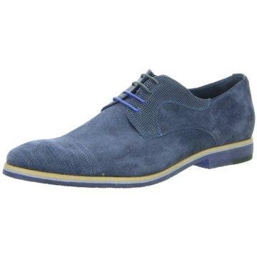 N.Benson Eleganter Schnürschuh blau