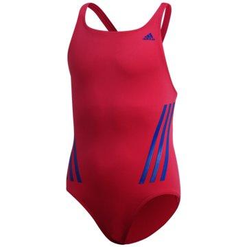 adidas BadeanzügePro V 3-Streifen Badeanzug - FL8673 rot