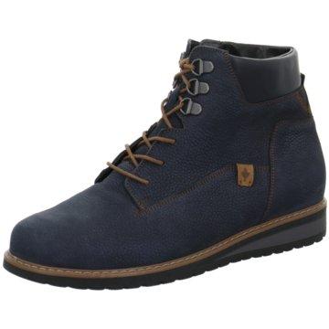 Waldläufer Komfort Stiefelette blau