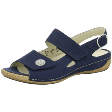 Waldläufer Komfort Sandale blau