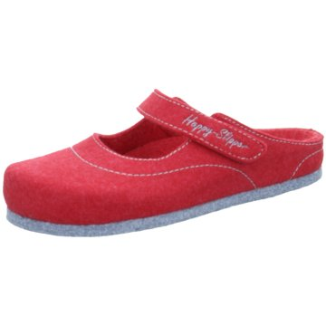 Happy Slipper Hausschuh rot