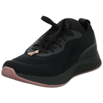 Tamaris Sportlicher Schnürschuh schwarz