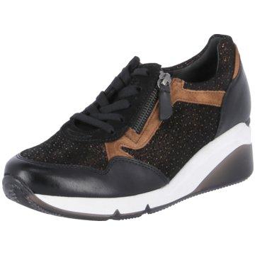 Gabor comfort Sneaker Wedges schwarz