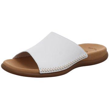 Gabor Komfort Pantolette weiß