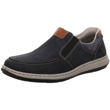 Rieker Komfort Slipper blau