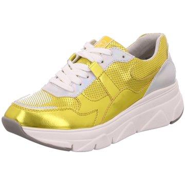 Tamaris Plateau Sneaker gold