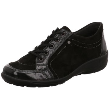 Semler Komfort Schnürschuh schwarz