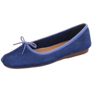Clarks Klassischer Ballerina blau