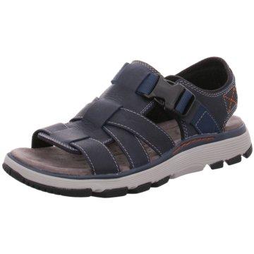 Clarks Komfort Schuh blau