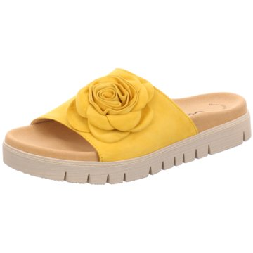 Gabor Klassische Pantolette gelb