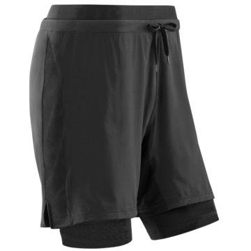 CEP kurze Sporthosen TRAINING 2IN1 SHORTS, BLACK, M - W081B schwarz